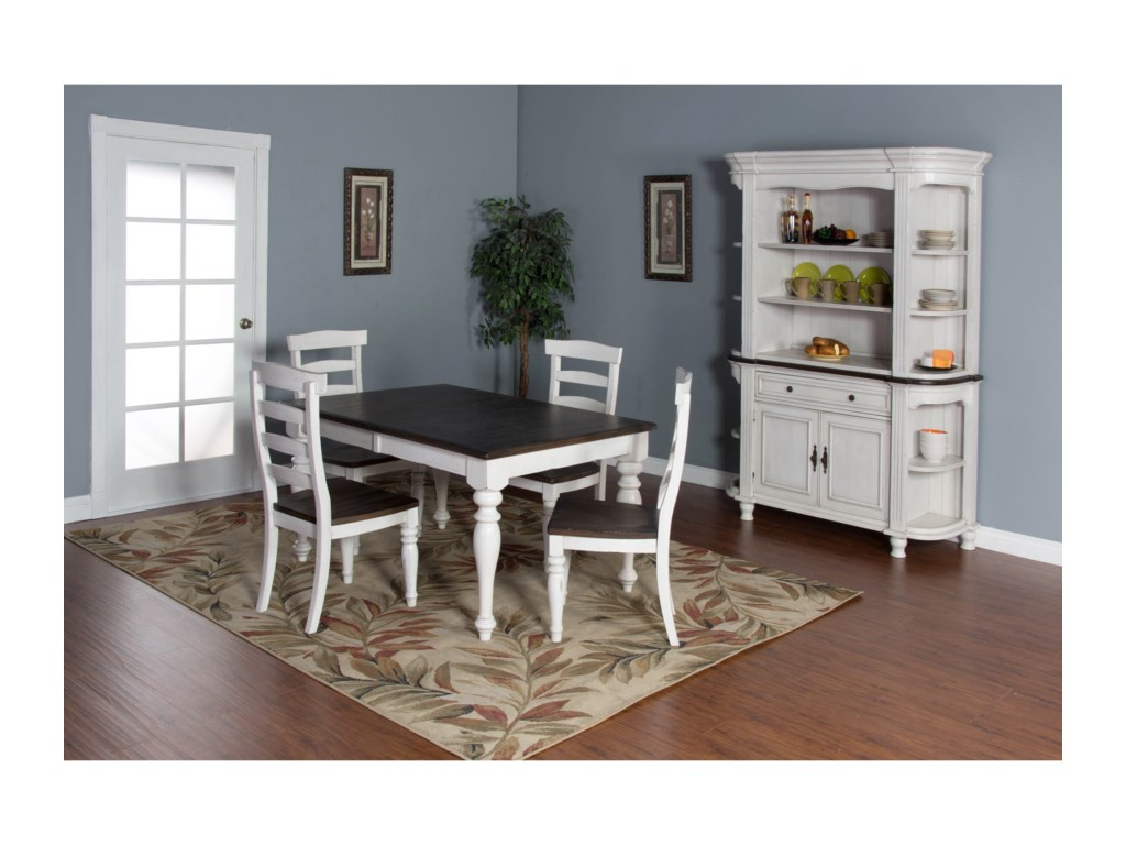 Sunny Designs Bourbon County5-Piece Extension Dining Table Set