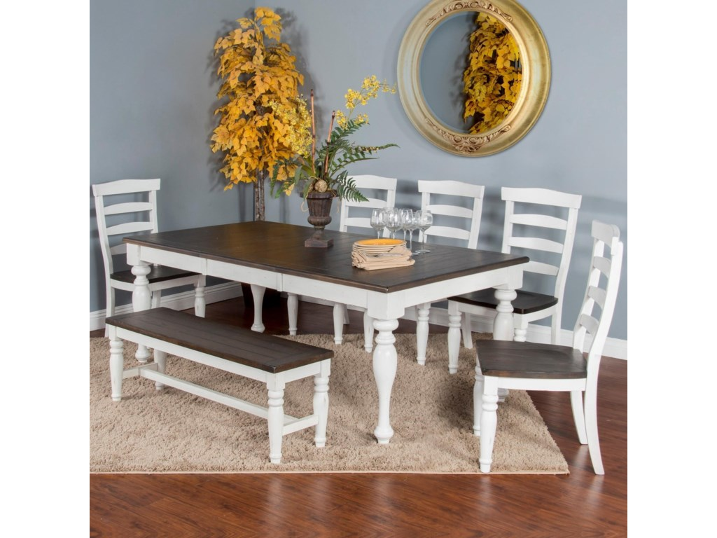Sunny Designs Bourbon CountySeven Piece Dining Set