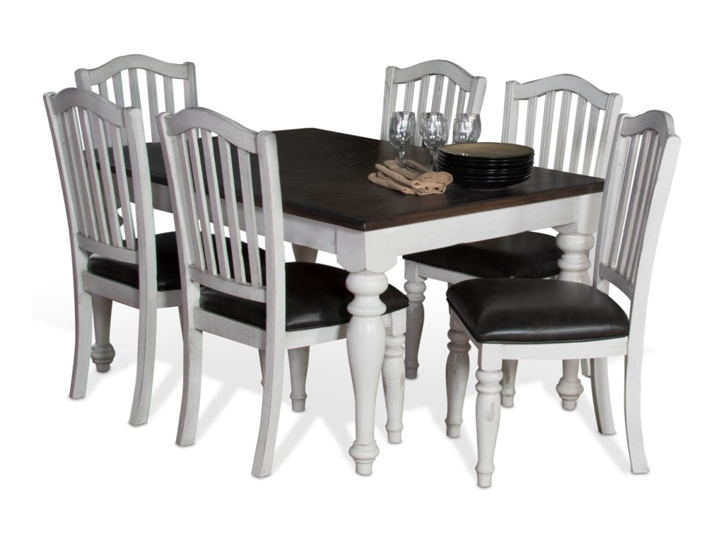 Sunny Designs Bourbon County9-Piece Extension Dining Table Set