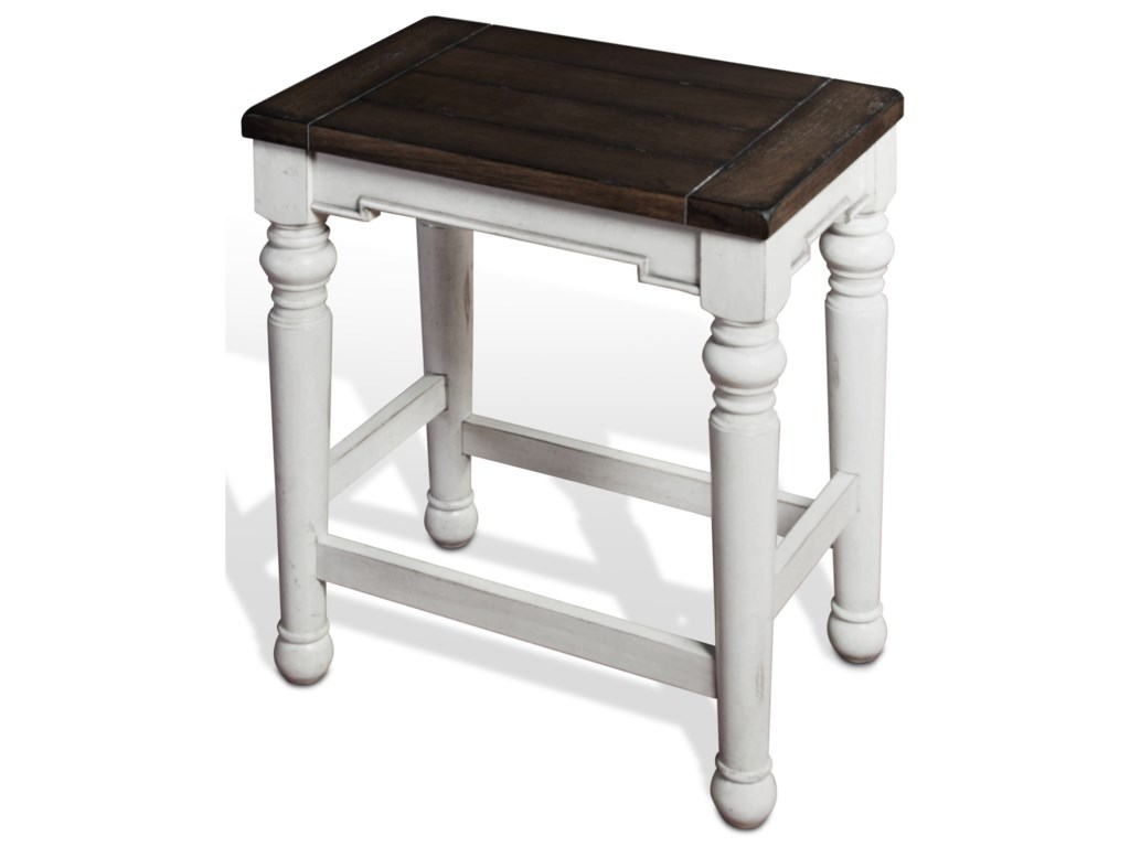 Sunny Designs Bourbon CountyBackless Stool w/ Wood Seat