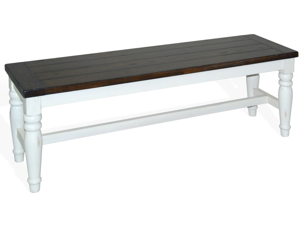 Sunny Designs Bourbon CountyBench w/ Wood Seat