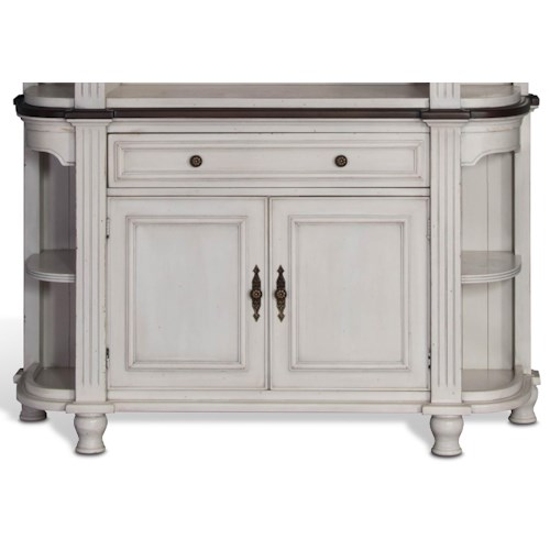 Sunny Designs Bourbon Country Two-Tone Demilune Buffet