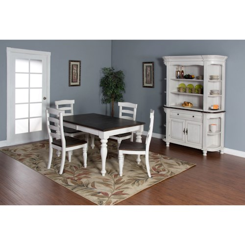 Sunny Designs Bourbon Country Casual Dining Room Group