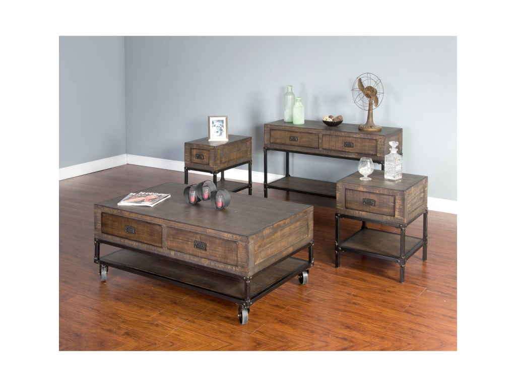 Sunny Designs BristolCoffee Table w/ Casters