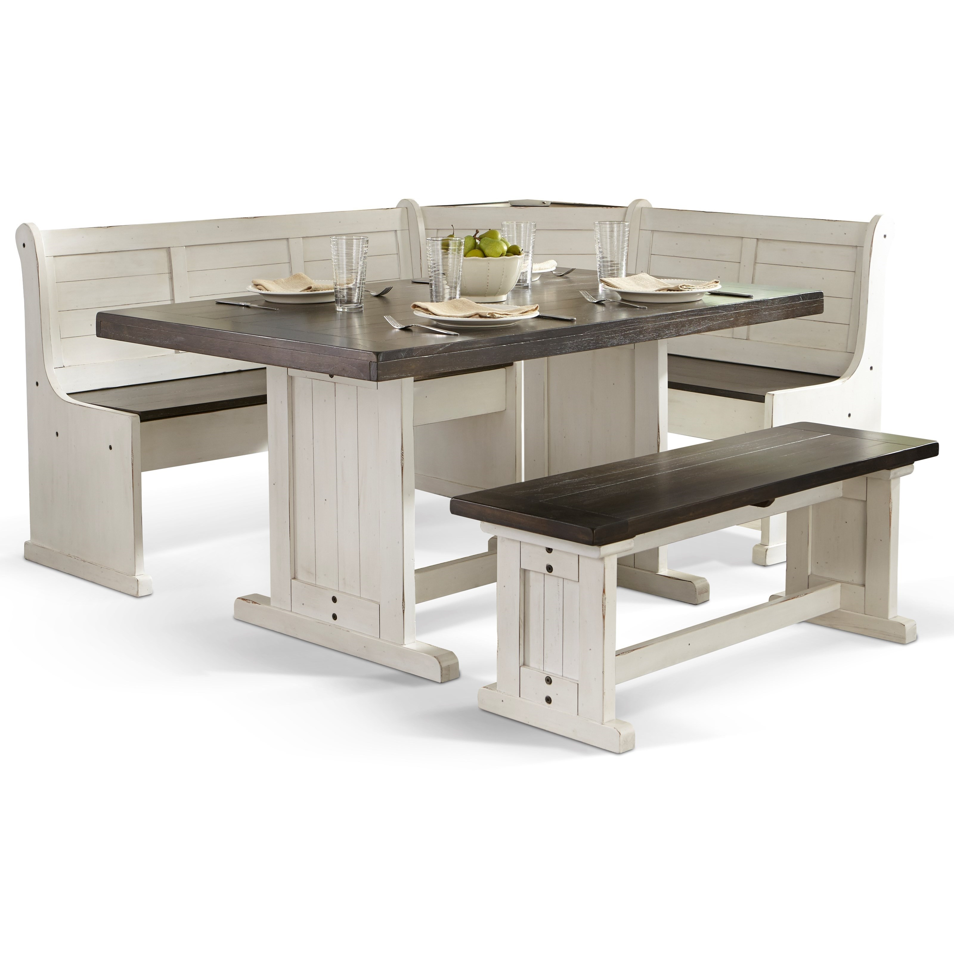 Sunny Designs Carriage House Breakfast Nook With Two Tone Finish