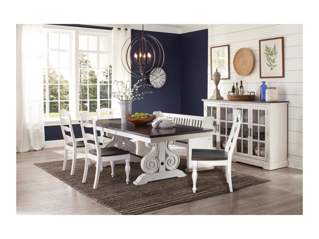 Sunny Designs Carriage House6 Pc Dining Set w/ Bench