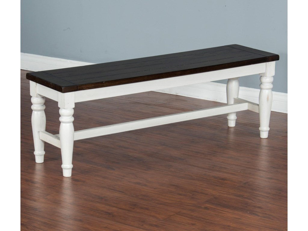 Sunny Designs Carriage HouseBench w/ Mindi Veneer Seat