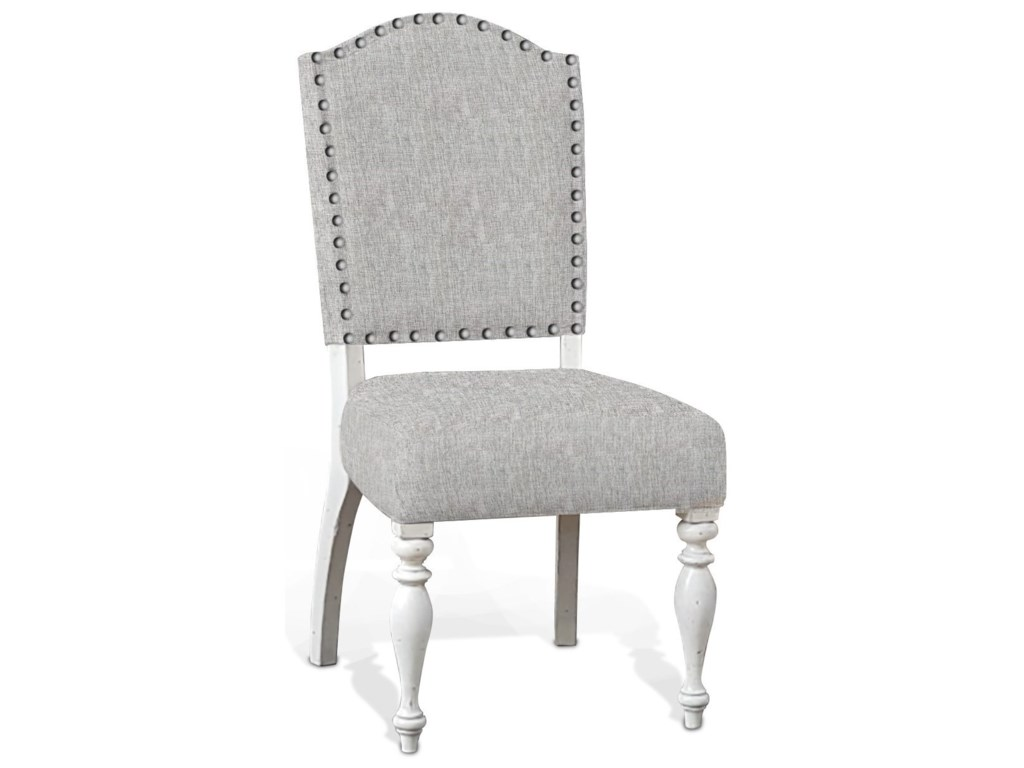 Sunny Designs Carriage HouseChair w/ Cushion Seat & Back, Cottage White