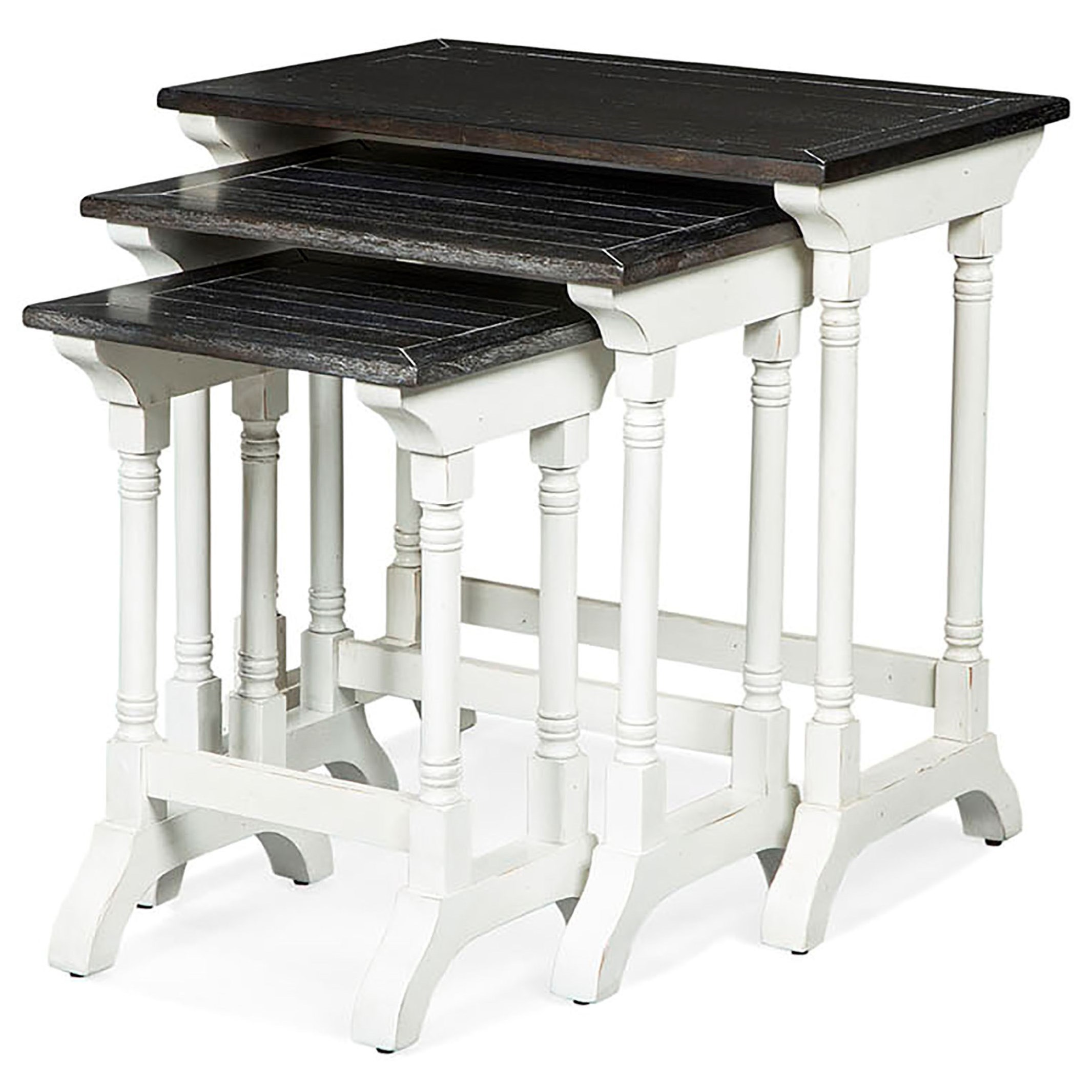Sunny Designs Carriage House Three Piece Nesting Table