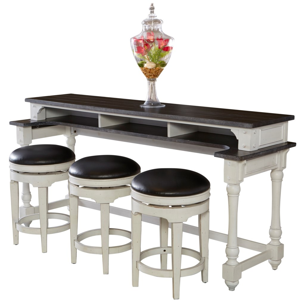 Sunny Designs Carriage House 4 Piece Counter Height Bar Table Set