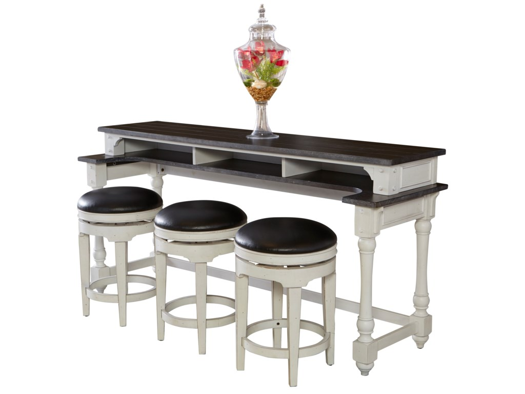 Sunny Designs Carriage HouseCounter Height Console Table + Bar Stools