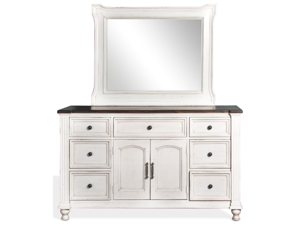 Sunny Designs Carriage HouseDresser and Mirror Combo