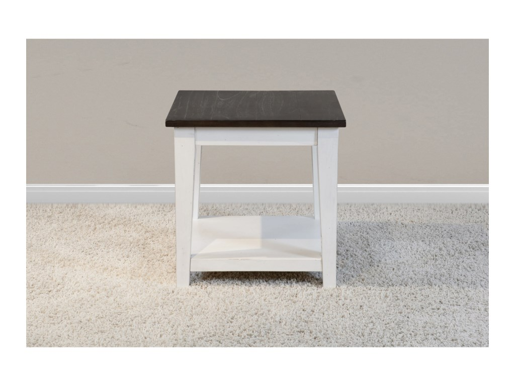 Sunny Designs Carriage HouseChair Side Table w/ Shelf