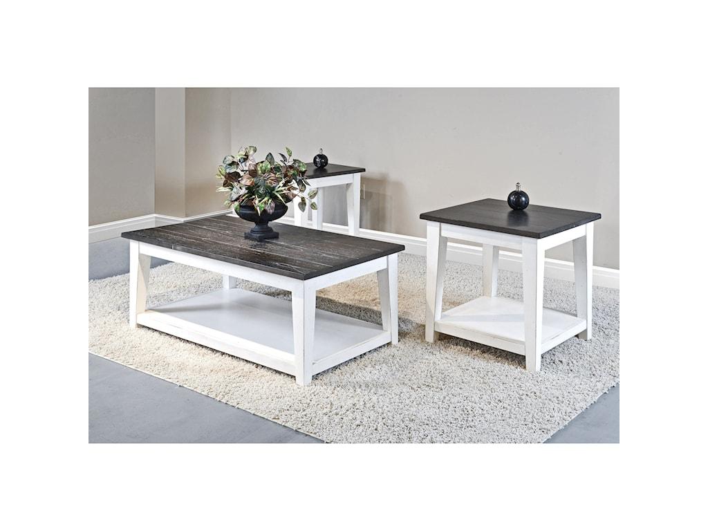 Sunny Designs Carriage HouseEnd Table w/ Shelf