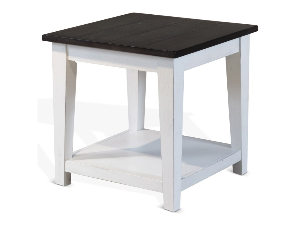Sunny Designs Carriage HouseEnd Table w/ Shelf
