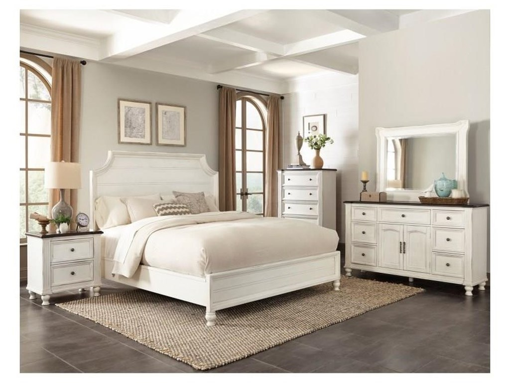 Sunny Designs Carriage HouseSolid Wood Queen Bedroom Set (all white)