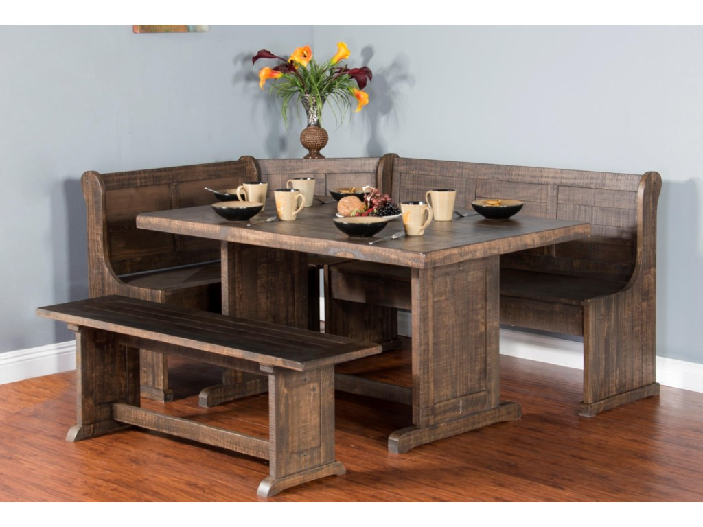 Sunny Designs Cottage PlaceCottage Place 4-Piece Breakfast Nook