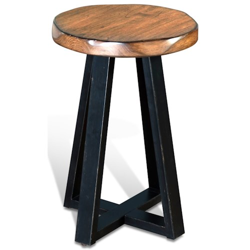 Sunny Designs Cresent Hill Live Edge Round Etagere Round Table