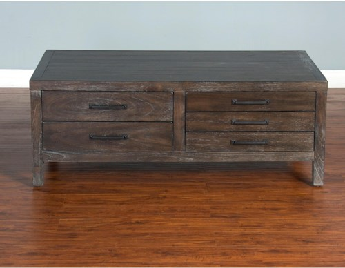Sunny Designs Dundee Rustic Coffee Table with Flip Top Storage
