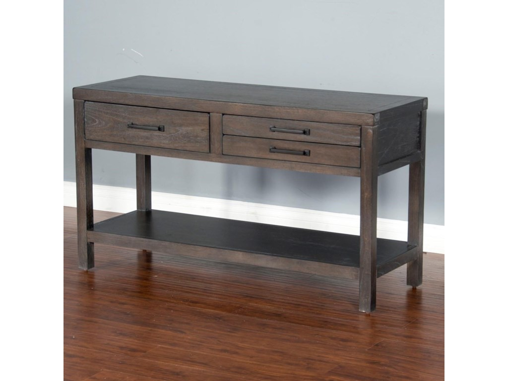 Sunny Designs Dundee 3271KB-S Rustic Sofa Table with 3 Drawers ...