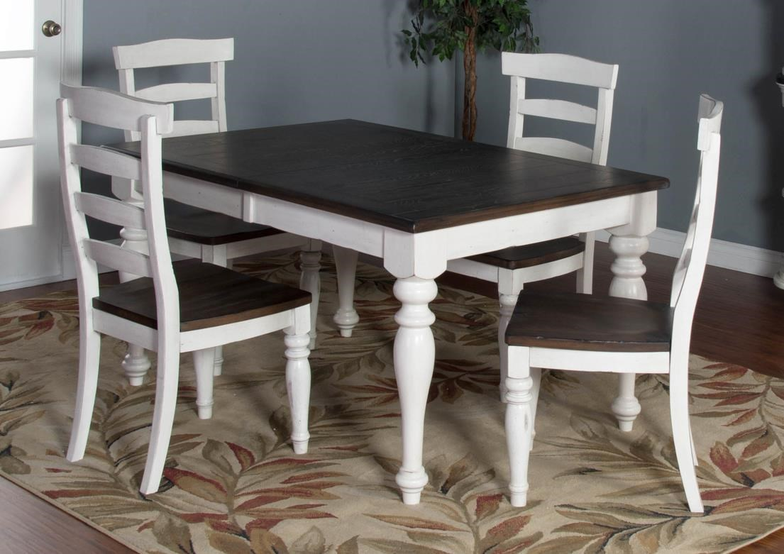 Fairbanks 5 Piece Dining Set Includes Extension Table And 4 Upholstered  Side Chairs By Market Square