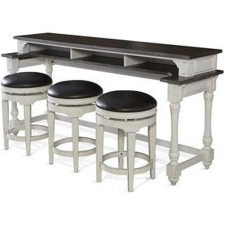 Fairbanks Bar Table with Swivel Stools