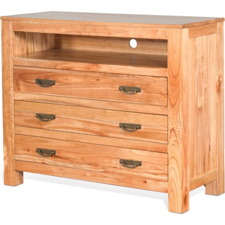 Solid Wood Media Chest