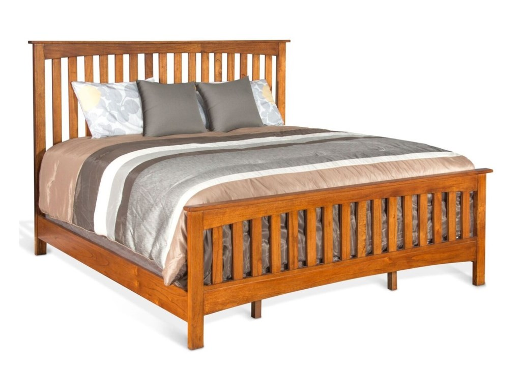 Harrisburg Mission Queen Panel Bed With Solid Wood Construction By Sunny Designs
