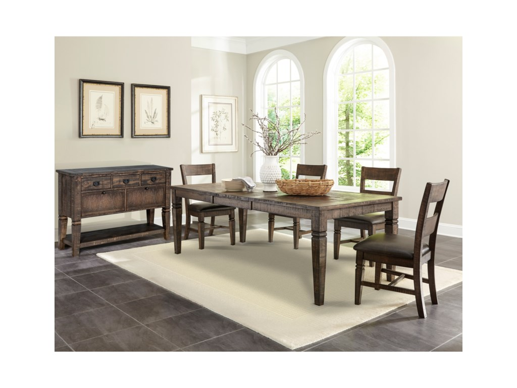Sunny Designs Homestead 2Extension Dining Table
