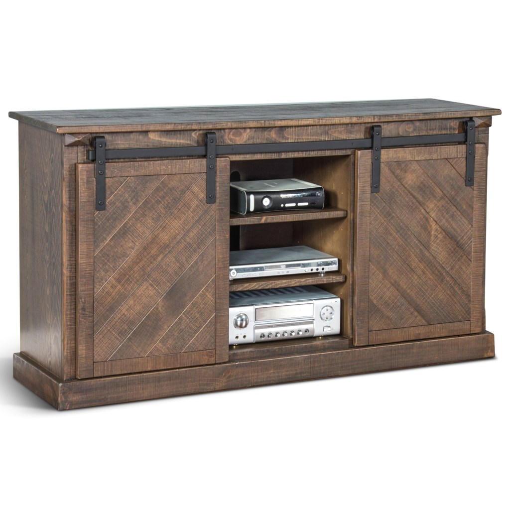 Sunny Designs Homestead 2 65 Tv Console With Sliding Barn Doors