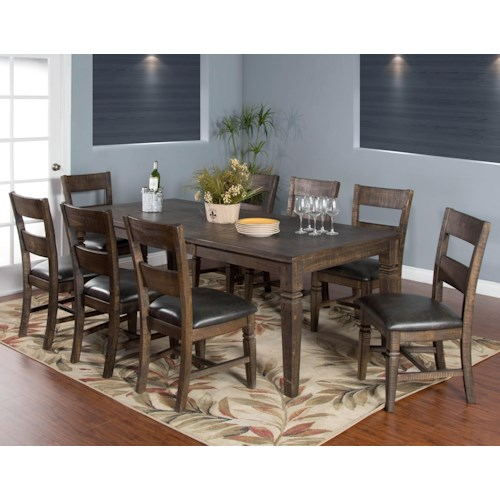 Sunny Designs Homestead 9-Piece Extension Dining Table Set