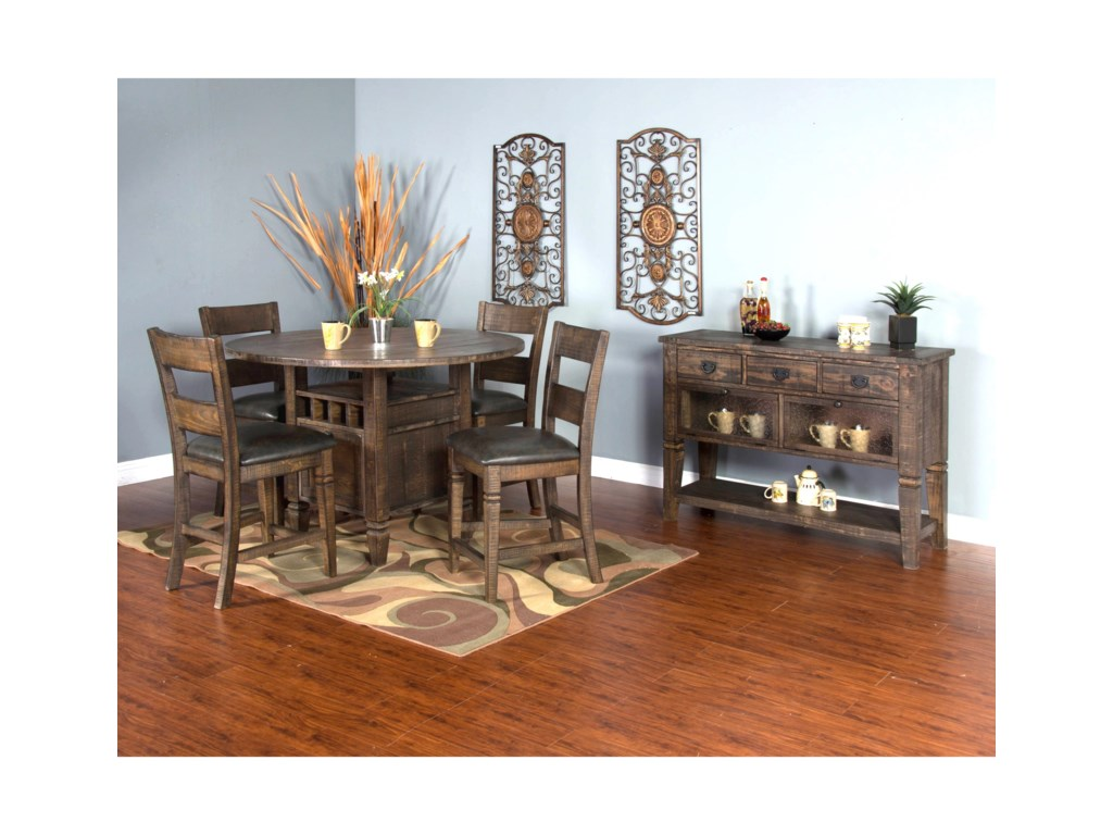 Sunny Designs Homestead5-Piece Counter Height Table Set