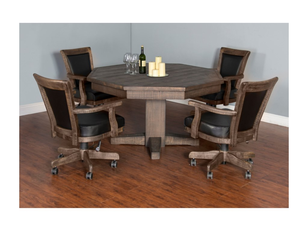 Sunny Designs HomesteadGame & Dining Table Set with Game Chairs