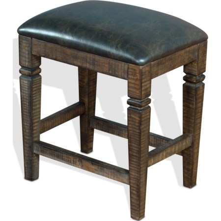 Backless Stool w/ Cushion Seat
