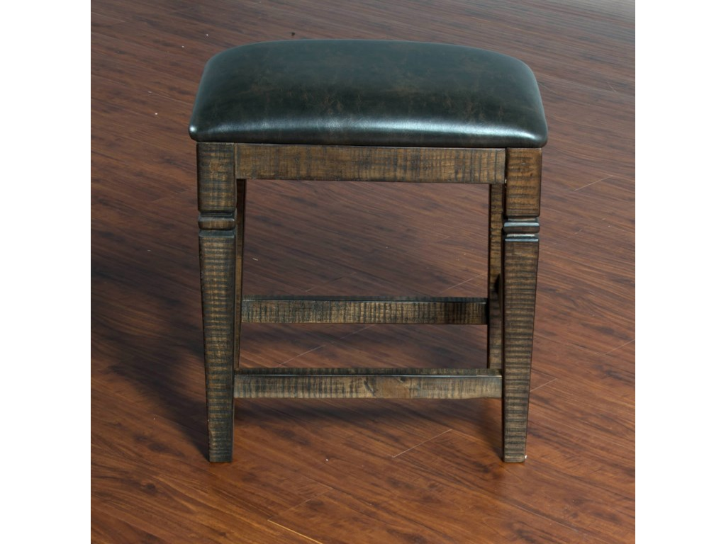 Sunny Designs HomesteadBackless Stool w/ Cushion Seat