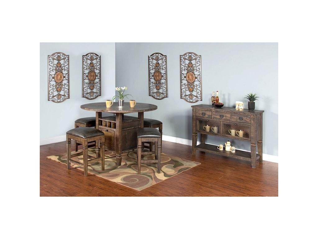 Sunny Designs HomesteadBackless Stool w/ Cushion Seat