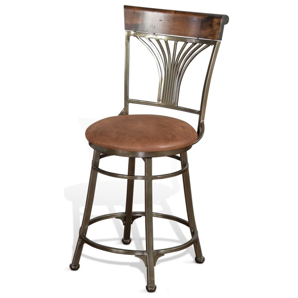 Sunny Designs London Metal Barstools Contemporary 24 Seat Height