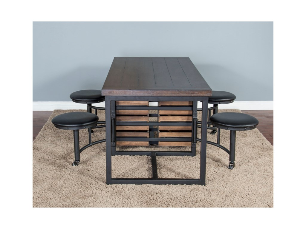 Sunny Designs Metro FlexIndustrial 5 Piece Table Set