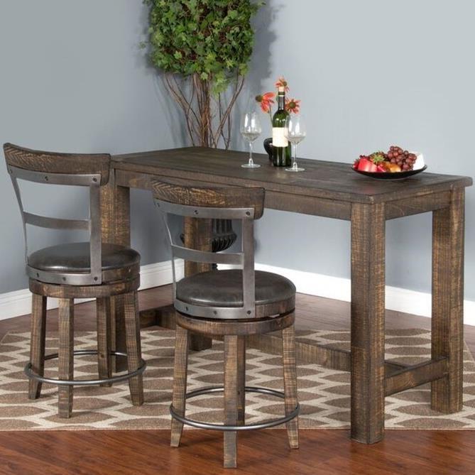 Captivating Sunny Designs Metro Flex3 Piece Pub Table Set