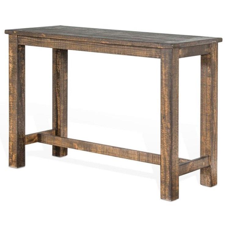 Sunny Designs Metro Flex TL Rustic Rectangular Pub Table With - Distressed wood pub table