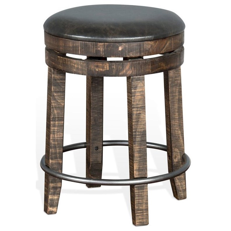 Sunny Designs Metro Flex 1624tl 24 Rustic Backless Swivel Stool With