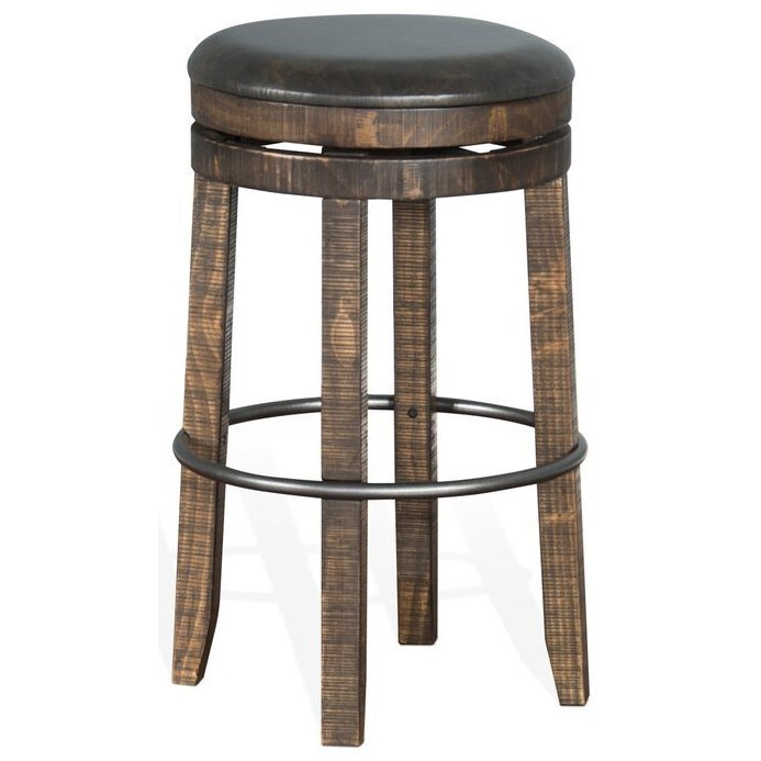 Sunny Designs Metro Flex 1624tl 30 Rustic Backless Swivel Barstool