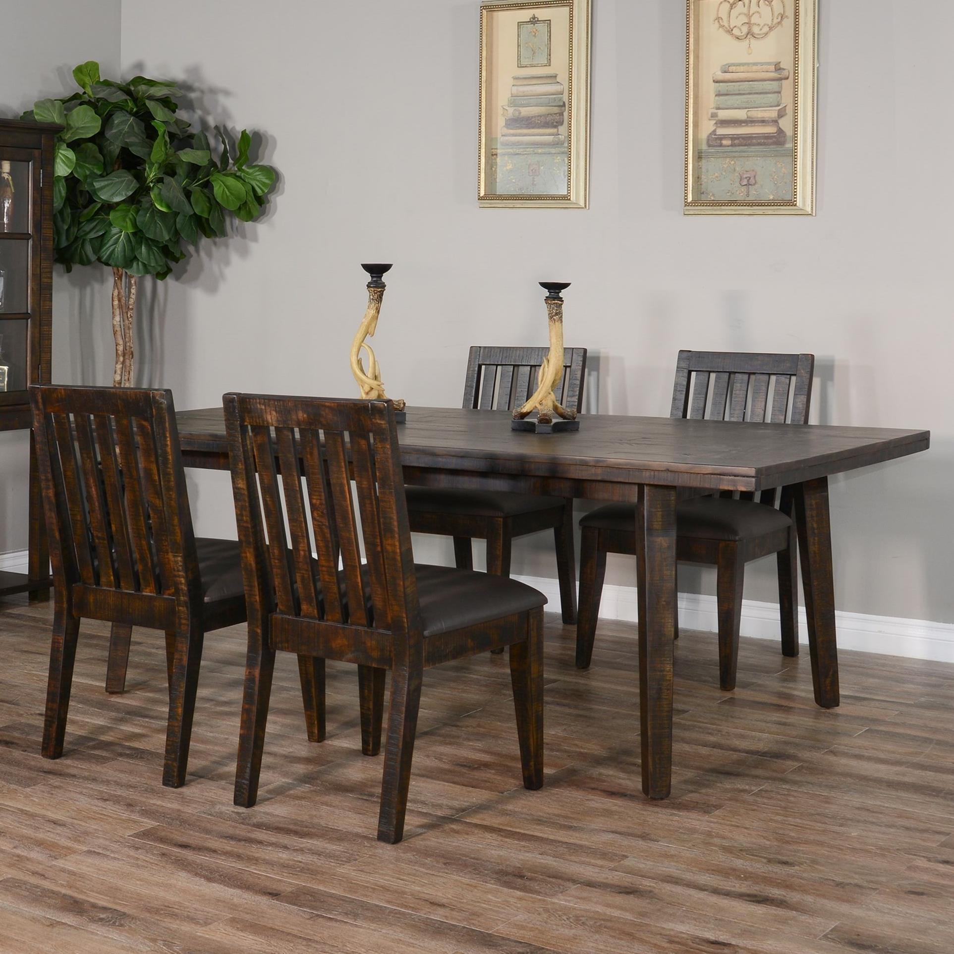 Rustic 5-Piece Table Set