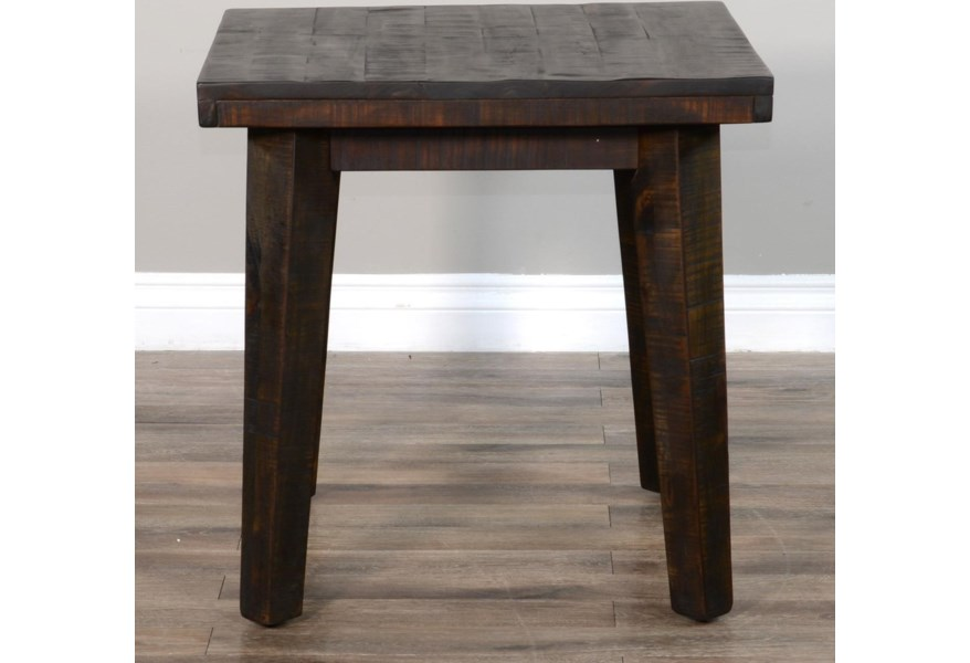 Sunny Designs Nassau 0184393 Rustic Square End Table Becker Furniture End Tables