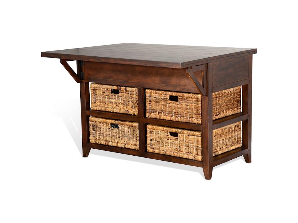 Sunny Designs Mossy Oak Nativ LivingKitchen Island Table