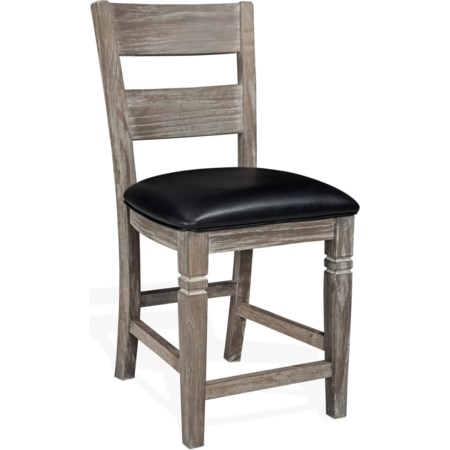 "24"" Ladderback Barstool with Cushion Seat"