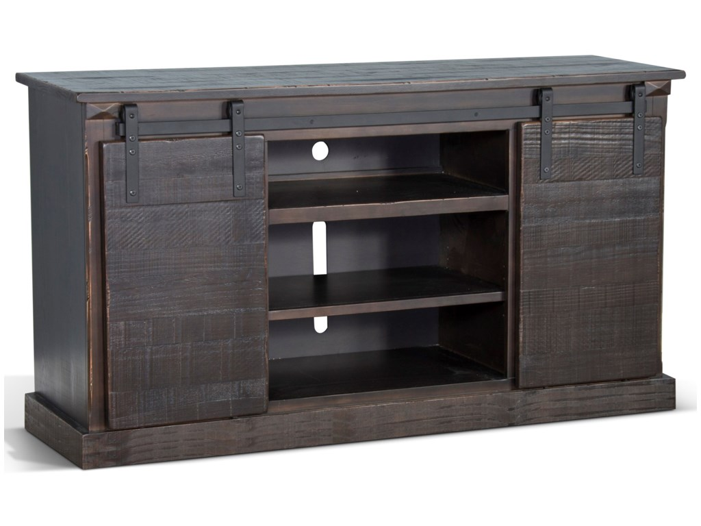 Radcliff Factory Barn Door Tv Console Fire Place26fb By Sunny Designs At Furniture And Appliancemart