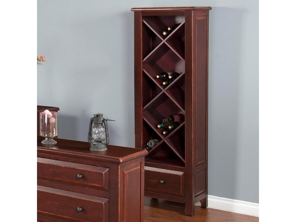 Sunny Designs RedEtagere w/ Wine Storage