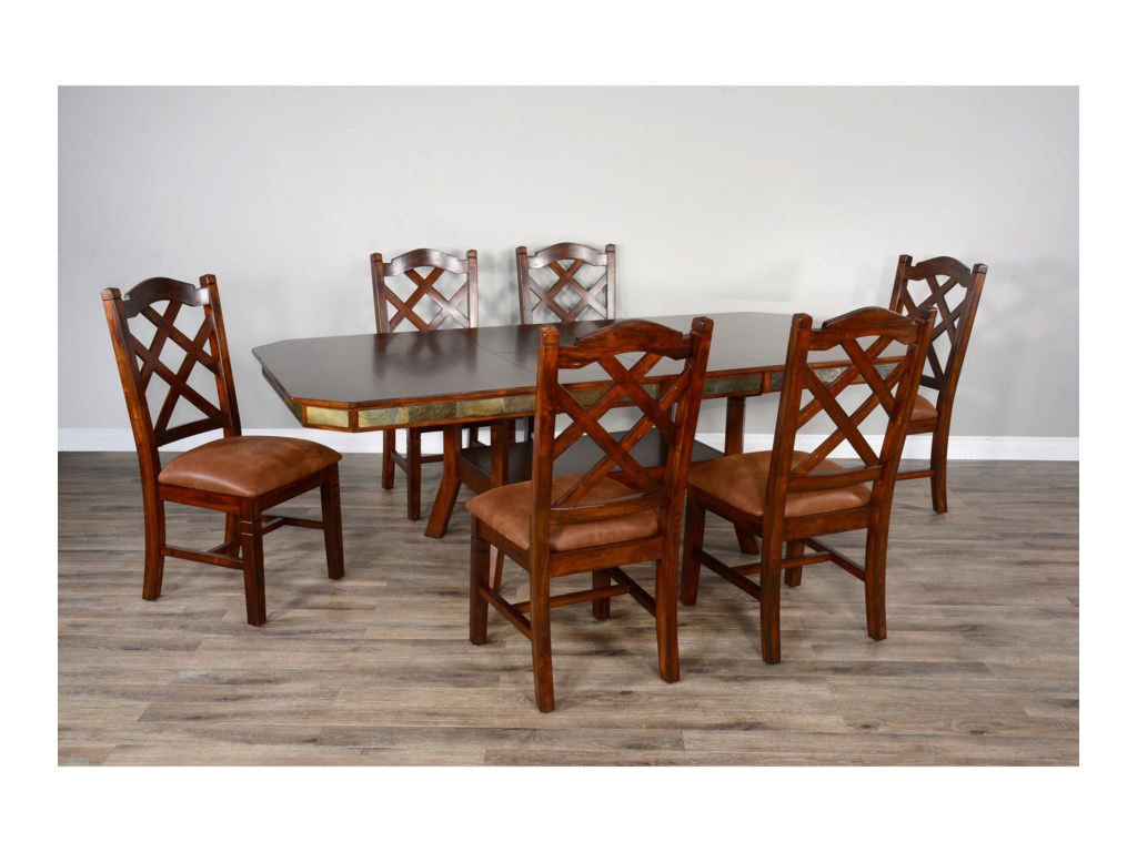 Sunny Designs Santa Fe 2 Adjustable Height Dining Table With 2 Butterfly Leaves Conlin S Furniture Pub Tables