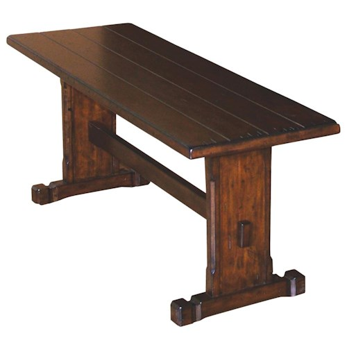 Sunny Designs Santa Fe Traditional Long Wooden Plank Top Bench Knight Furniture Mattress